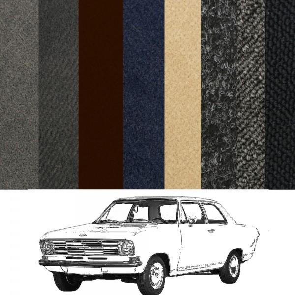 Opel Kadett B Limousine 4-Türer Teppich verschiedene Farben Schlinge Velours