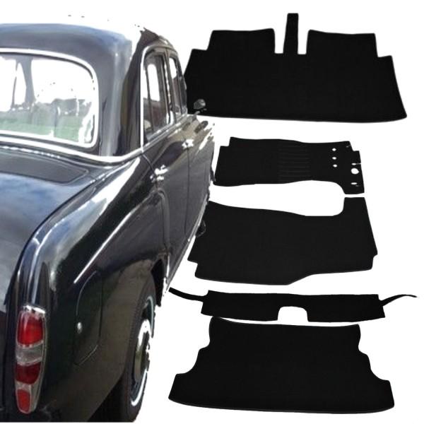 Mercedes Benz Ponton 220 W180 Autoteppich Schlinge schwarz Keder Kunstleder
