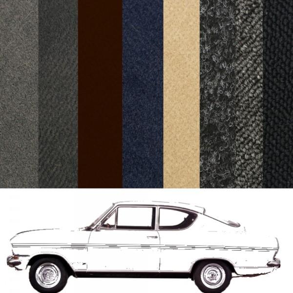Opel Kadett B Coupe Teppich verschiedene Farben Schlinge Velours