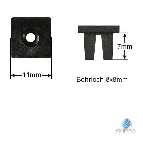 30x Clip Clips Clipse Kunststoff Spreizmutter Türverkleidung KFZ Universal 112