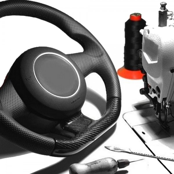 Raid Sport Lenkrad neu beziehen mit Automobilleder inklusive Pralltopf