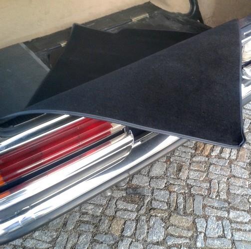 Mercedes W116 S-Klasse Kofferraummatte Schlinge schwarz Keder Stoff