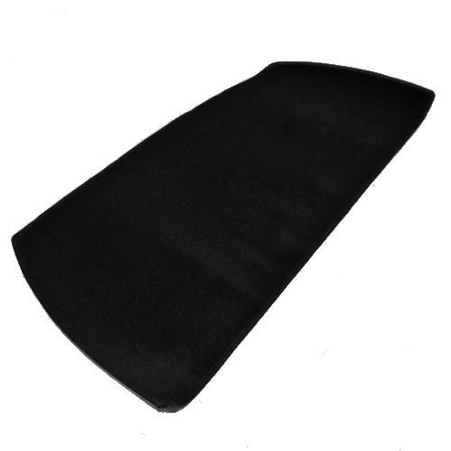 Opel Manta A Teppich für Heckablage Velours schwarz mit Kunstlederkettelung
