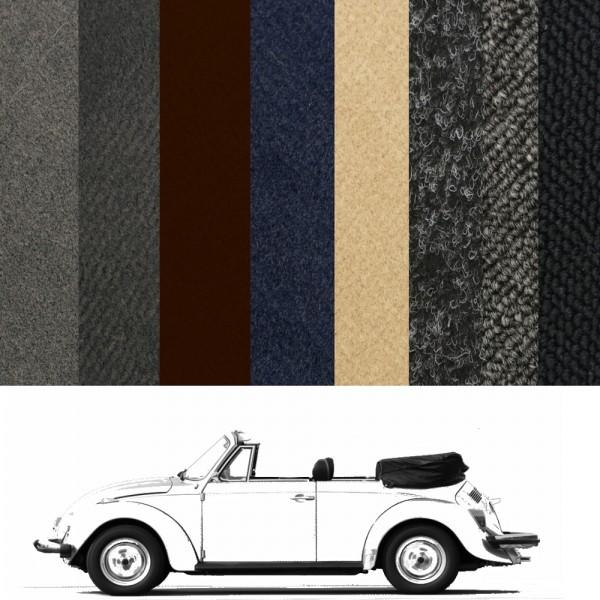 VW Käfer Teppich 1303 Cabrio verschiedene Farben und Keder