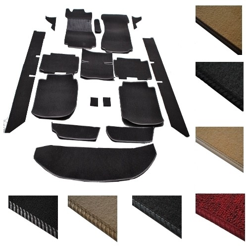 Mercedes W114 W115 /8 Limousine Teppich Schlinge schwarz Keder Kunstleder schwarz (H)