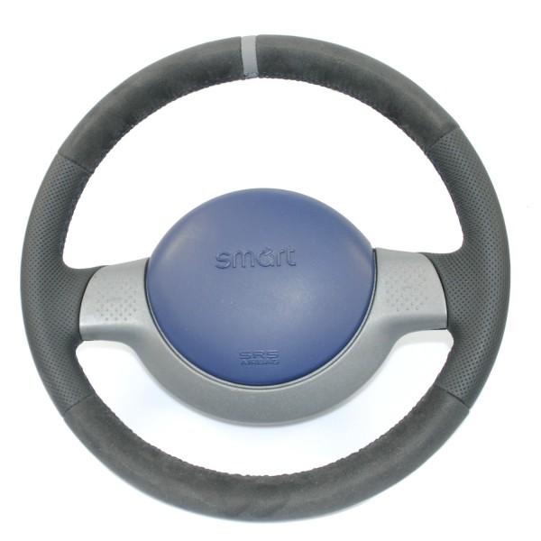 Smart Lenkrad NEU BEZOGEN mit Alcantara und peforiertem Leder Ring auf 12 Uhr Sofortkauf