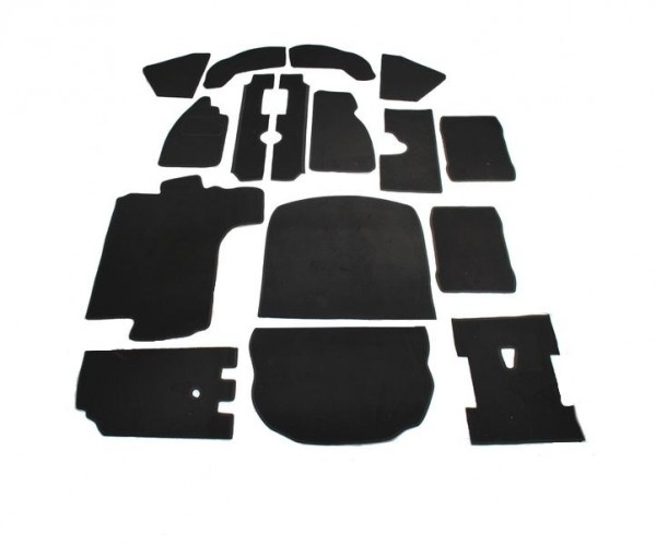 VW Käfer Limo 1303 Teppich komplettes Set Schlinge schwarz Keder Stoff schwarz