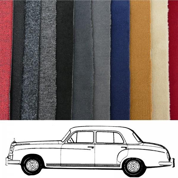Autoteppich komplett Mercedes Benz Ponton 220 W180 verschiedene Ausführungen NEU