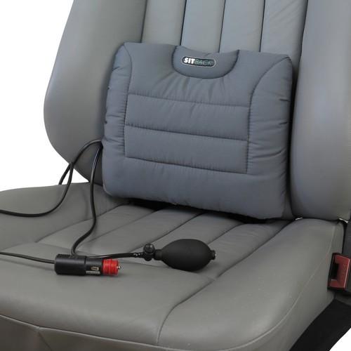 SITBACK Rückenkissen Air Heizung + Luftkissen Stoff grau