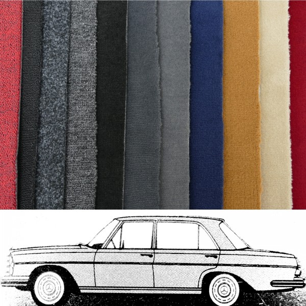 Autoteppich komplett Mercedes W108 ab Baujahr 1969 verschiedene Farben Neu
