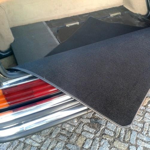 Mercedes W116 S-Klasse Kofferraummatte Schlinge schwarz Keder Kunstleder