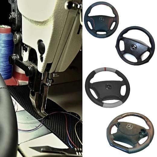 Wir beziehen Ihr Lenkrad neu mit Leder - Mercedes SLC C107 Coupe