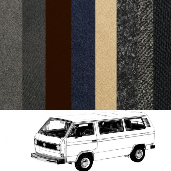 VW T3 Bus Turbodiesel kompletter Teppich verschiedene Farben NEU