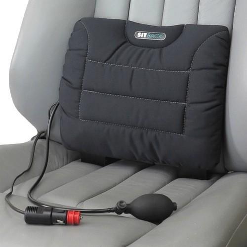 SITBACK Rückenkissen Air Heizung + Luftkissen Stoff schwarz
