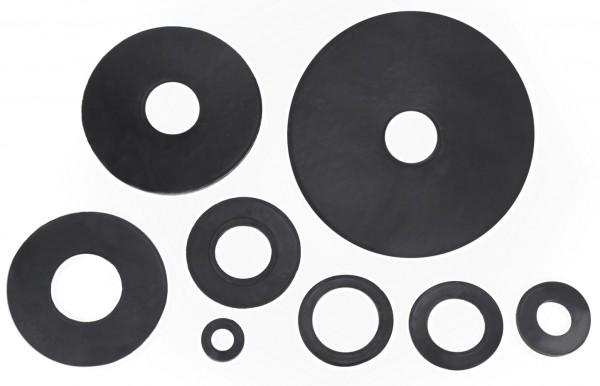 100x Gummi Unterlegscheibe Gummischeibe Gummischeiben Gummiunterlegscheiben