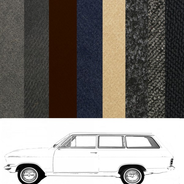 Opel Kadett B Caravan Teppich verschiedene Farben Schlinge Velours