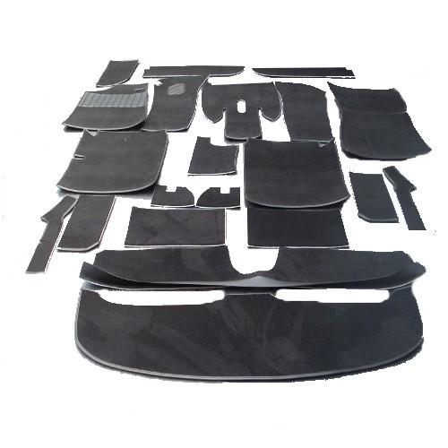 BMW E9 Coupe 2,5CS 2800CS 3,0CS 3,0 Teppich Schlinge schwarz + Kofferraum KL