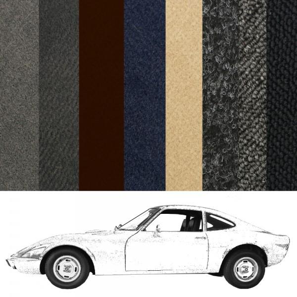 Opel GT Teppich Neuanfertigung verschiedene Farben Schlinge und Velours