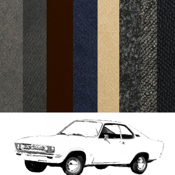 Opel Manta A Teppich komplett verschiedene Farben Velours Schlinge