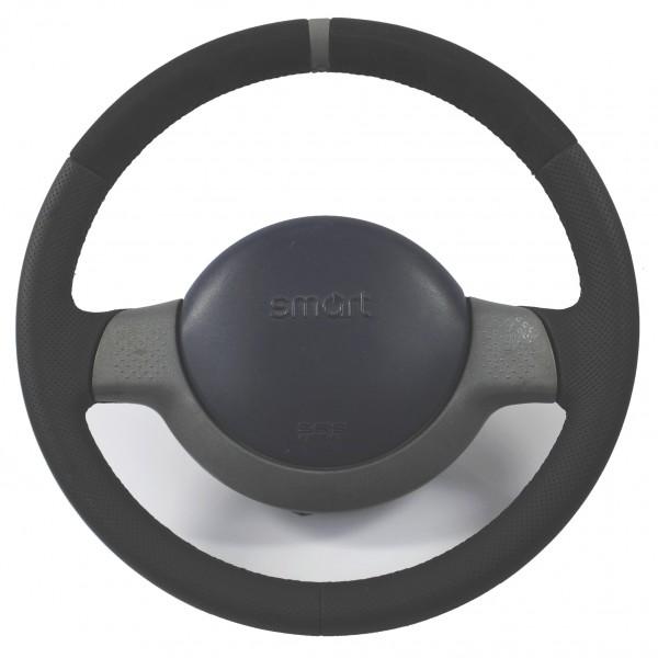 Smart Lenkrad NEU BEZOGEN mit Alcantara und peforiertem Leder Ring auf 12 Uhr Sofortkauf (1)