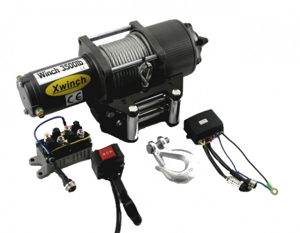 Elektrische Seilwinde für ATV Quad 12V 1580kg 3500 lbs