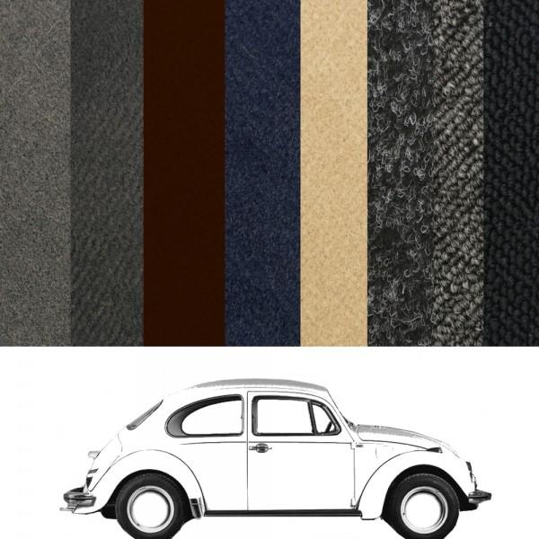 VW Käfer Teppich 1302 Limousine verschiedene Farben zur Auswahl in Velours und Schlinge
