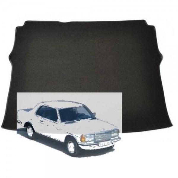 Mercedes W123 Coupe Kofferraummatte Schlinge schwarz Keder Kunstleder