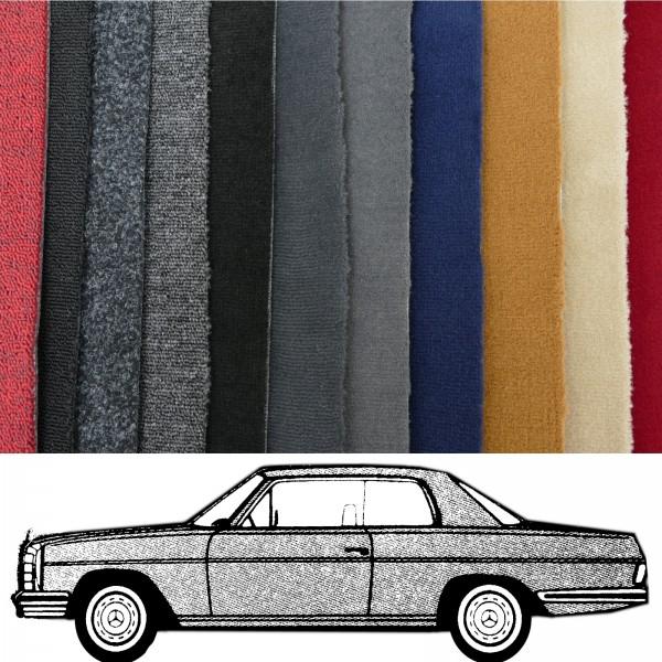 Autoteppich komplett Mercedes W114 Coupe /8 verschiedene Farben Neu