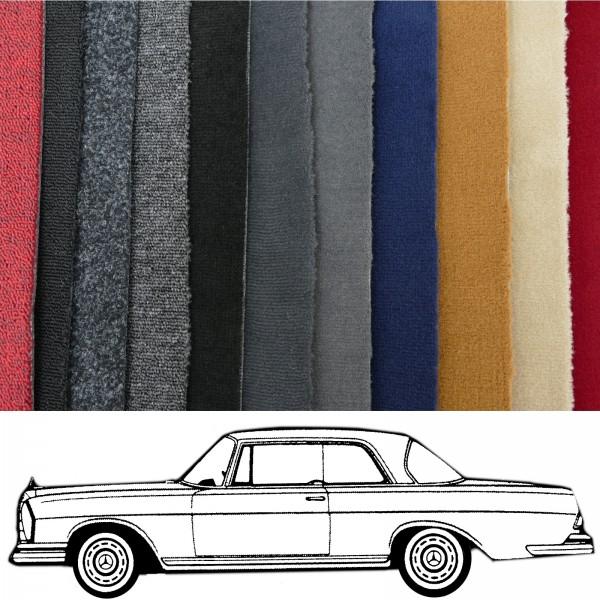 Autoteppich komplett Mercedes W111 Coupe Hochkühler verschiedene Farben Neu
