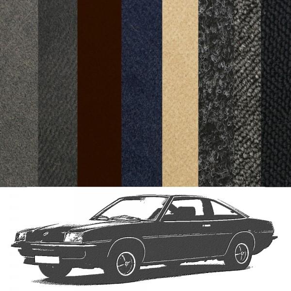 Opel Manta B Teppich komplett verschiedene Farben Velours Schlinge